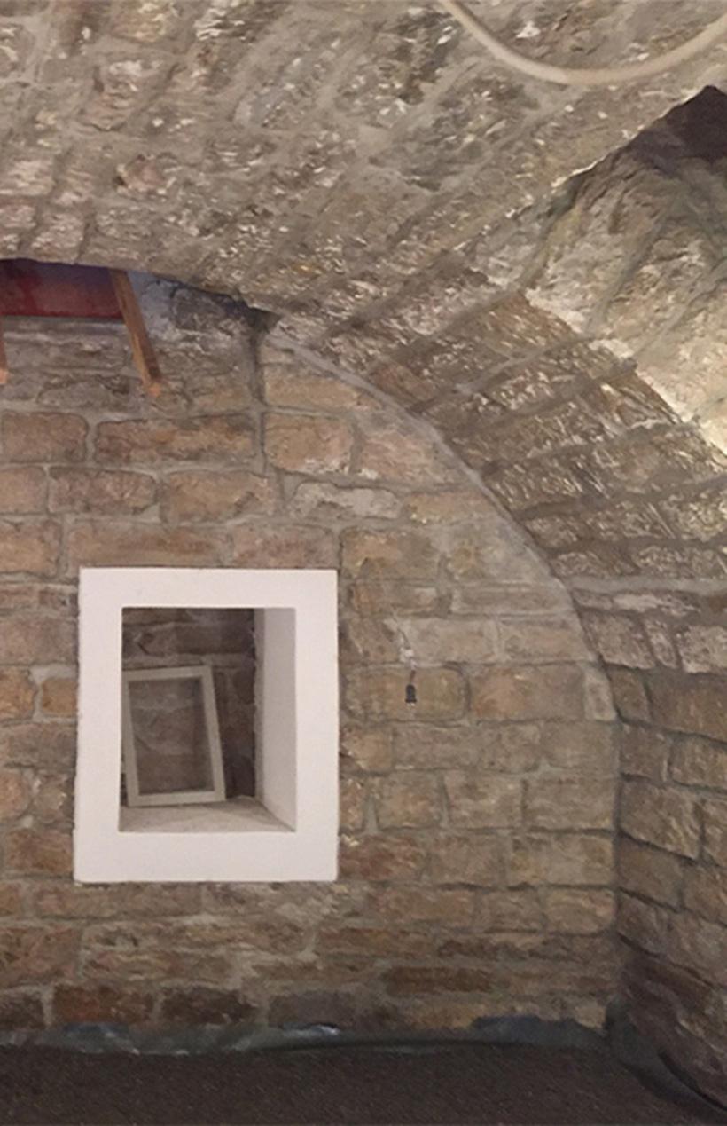 Kellersabierung, Gewölbekeller, Weinkeller, Walter Schnee Anstrich und Bautenschutz