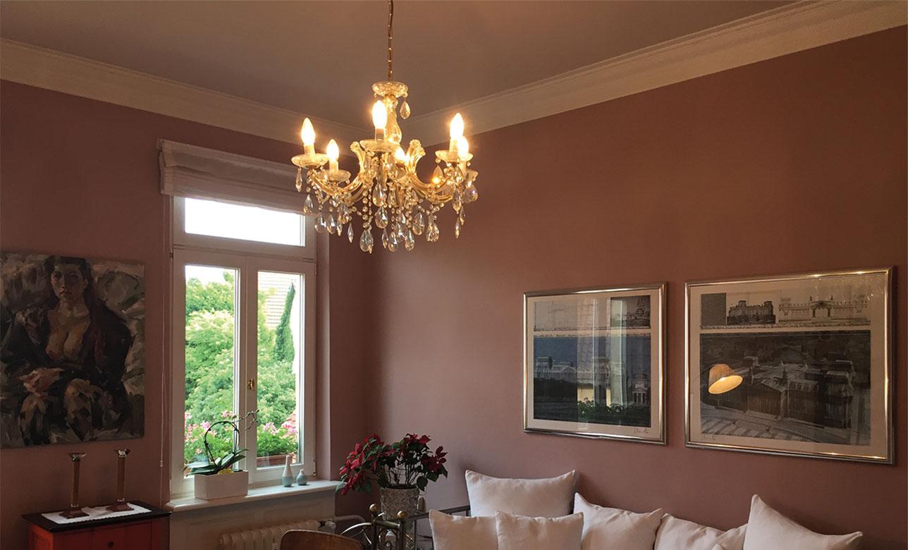 Innenraumgestaltung, Farbberatung, Stuckprofile, Raumausstattung, Walter Schnee Anstrich und Bautenschutz