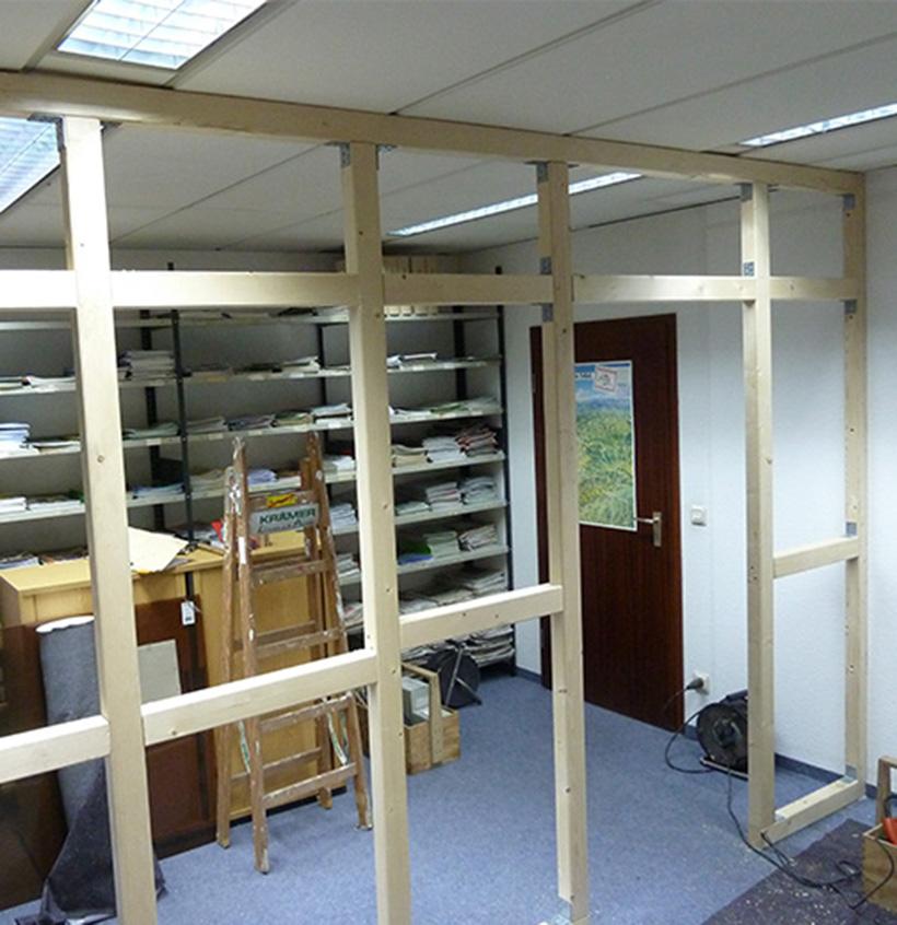 Schreinerei, Bürostellwände, Walter Schnee Anstrich und Bautenschutz